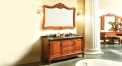 amber red oak, protoro thicken marble cabinet and mirror