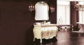 ivory and hand paint golden oak, galala marble cabinet and mirror
