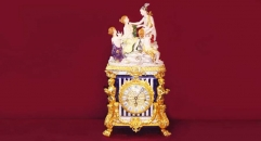 decorative table clock, the birth of Jesus theme