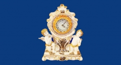 angel and flower electronic table clock (dolomite)