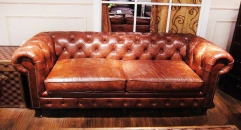 Full top grain leather sofa set