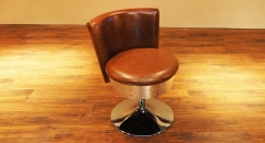 Swivel leather chair