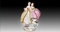 Two ladies go for an outing(porcelain art)
