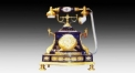 classical golden hand crank telephone