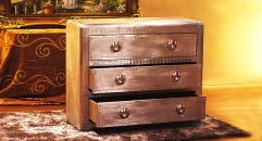Aluminium chest of drawers, 3 drawers