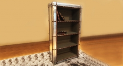 Aluminium trunk, bookcase