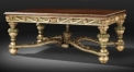 European style antique hand painted coffee table