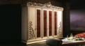 wood carved vine 6 door wardrobe