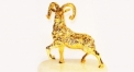 Exquisite golden 24K home decor metal craft sheep decoration , European-style home accessories vintage ornaments