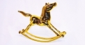 Classical golden 24K home decor metal craft horse decoration , European-style home accessories vintage ornaments