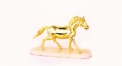 Royal golden 24K home decor metal craft horse decoration , European-style home accessories vintage ornaments