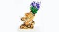 Luxury golden 24K home decor metal craft vase, European style tabletop vase