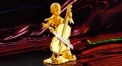 Exquisite golden 24K home decor metal craft violoncello decoration, European-style home accessories vintage ornaments