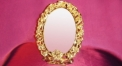 Luxury golden 24k home decor metal craft mirror