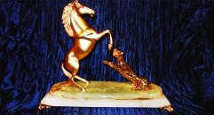 Luxury golden 24K home decor metal craft horse decoration , European-style home accessories vintage ornaments