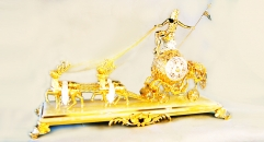 Classical golden 24K home decor metal craft carriage decoration , European-style home accessories vintage ornaments