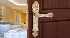 Antique Zinc Alloy K Gold Plated Door Lock Refined Carving Handle European Luxury Locks