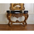 Antique Refined Wood Carving Console Table