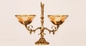 European antique copper and glass balance style compote , European-style home accessories vintage ornaments fruit tray