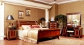 royal red brown kind bed, classical hand made superior solid wood bed
