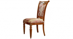 classical solid wood with high quality fabric dining chair