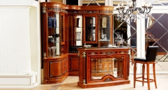 luxury hand made solid wood bar table, corner showcase, bar chair