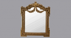 European Antique Refined Pierced Mirror Luxury Royal Frame Decor Wall Art Hotel or Beauty Salon or Bathroom Used