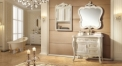 golden and white ashtree solid wood cabinet and mirror, classical beige marble, single hole and single basin bathroom vanities