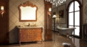 classical yellow oak cabinet and mirror, camellia marble, single hole and single basin bathroom vanities