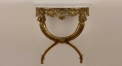 antique imitation golden copper and volakas white marble console table, living room european style console table