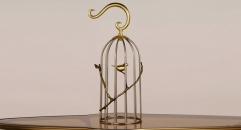 small size classical copper and stainless steel birdcage, branch decoration golden metal bird cage