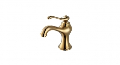 new design copper basin mixer, European Style Single Handle single hole Bathroom Faucet, cold and hot water faucet