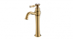 classical cold and hot water basin faucet, Single Holder single hole Bathroom Faucet, copper basin mixer