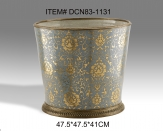 Antique Porcelain and Brass Decorative Flower Pot Ceramic Exquisite Art Ornament