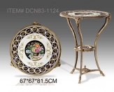 European Style Antique Porcelain Round Console Table Side Table Luxury Ceramic Decor