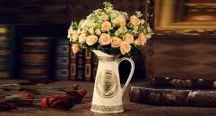 luxury Medusa style vase, milk pot shape ceramic hand made vase, European style table vase