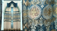 Modern Baroque Style Chenille Luxurious Curtain Customized Quality Fabric Curtains Transparent Gauze