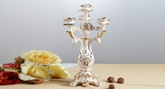 exquisite Italy style candle holder, home decoration ivory porcelain candlestick