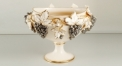 grapes decorative ivory porcelain flower pot, lucky home decoration, unisex ceramic and enamel display good