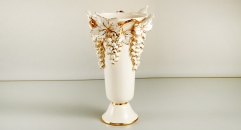 famous brand horses theme , luxury ivory ceramic hand made vase, European style table vase