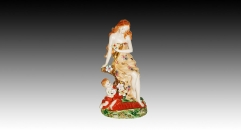 European style colorful glazed porcelain home decoration, mother and son decoration item