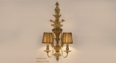 energy saving 100% high quality copper wall lamp, art decoration bedroom lighting, luxury golden carving reading lamp