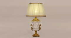golden copper and import glass table lamp, energy saving and environmental friendly European decoration table lighting