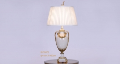 pure white porcelain and golden copper vase shape table lamp, antique beauty design table light, classical wedding gift