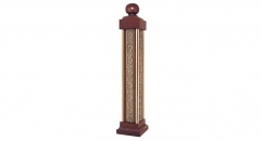 classical beech and copper kingpost, deck, porch and stair railing