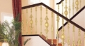 simple design golden copper stair railing, gold plating fence