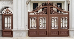high quality red brown outside gate, security aluminum door