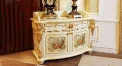 luxury European style woodcarving cabinet set, four-door sideboard set, cupboard