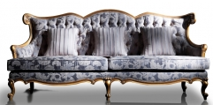antique French style wood carving sofa(3seats)