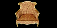 antique French style wood carving Armchair